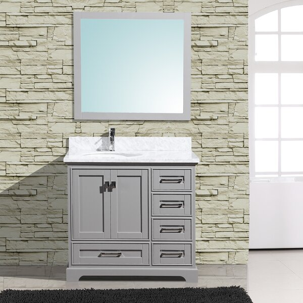 Frieda 36 Single Bathroom Vanity with Mirror by Gracie Oaks