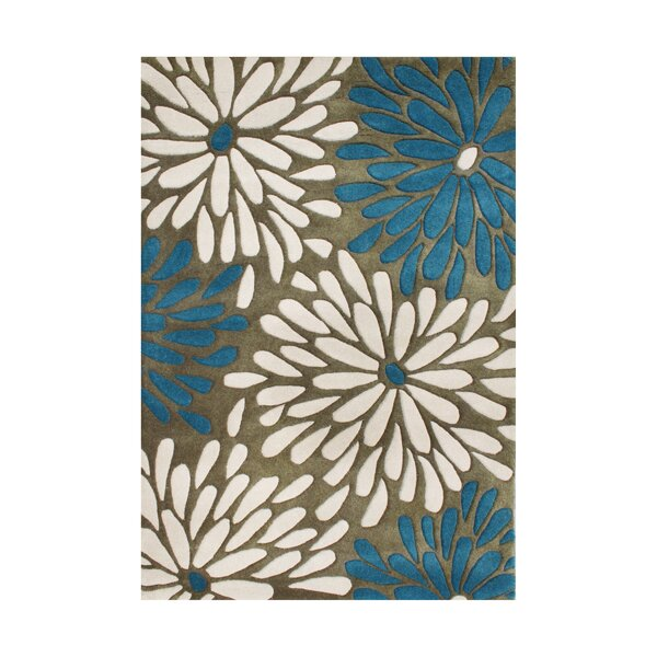 New Zealand Handmade Olive Area Rug by Alliyah Rugs