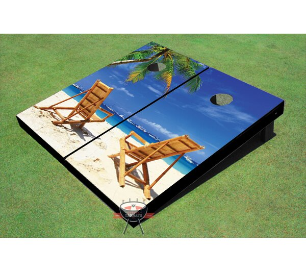 Beach Chair Twins Cornhole Board (Set of 2) by All American Tailgate