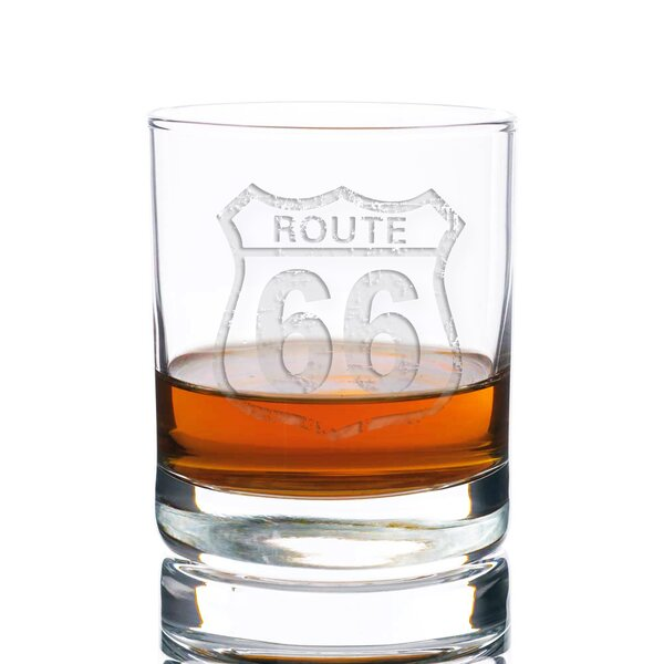 Tat Vintage Route 66 Rocks 10 oz. Glass Every Day Glass by 17 Stories