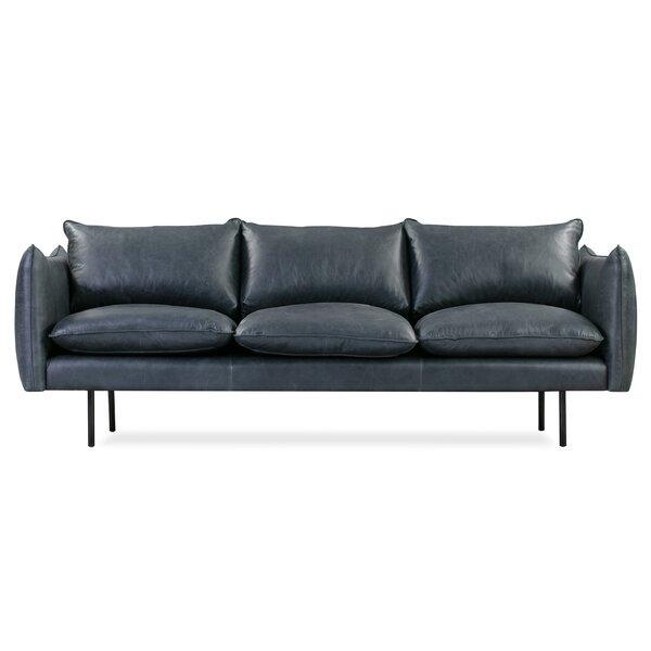 Rigney Leather Sofa by Brayden Studio Brayden Studio