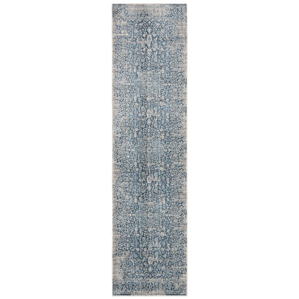 Coweta Vintage Persian Cotton Blue Area Rug by Bungalow Rose