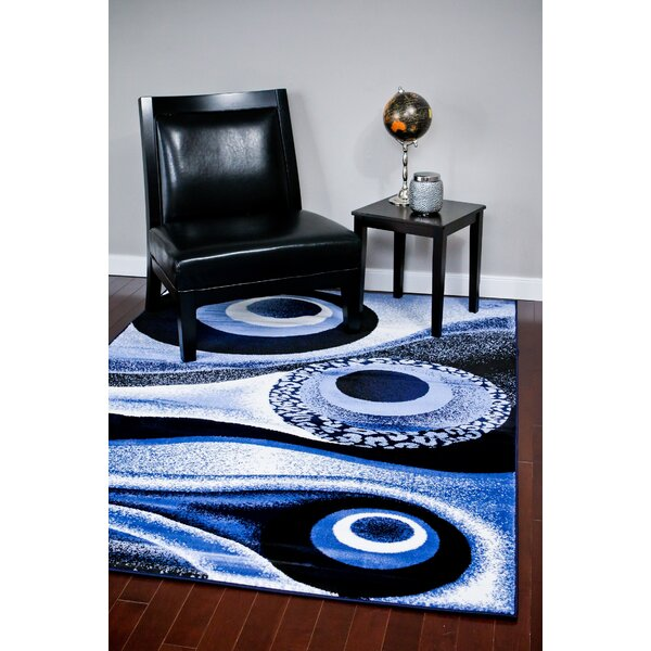Abstract Blue Area Rug By Persian-Rugs.