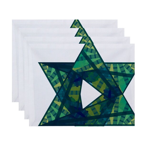 Star Mosaic Geometric Print Placemat (Set of 4) by The Holiday Aisle