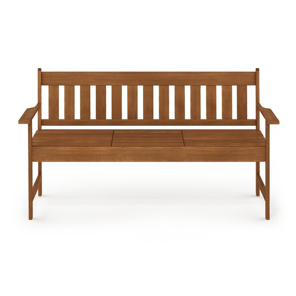 Joe Tioman Outdoor Occasional Wooden Garden Bench by Rosecliff Heights