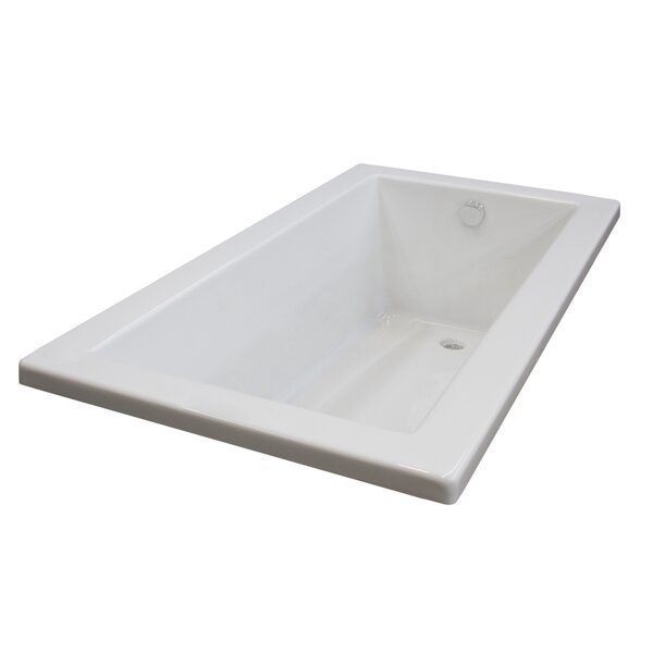 Guadalupe 59.75 x 41.5 Drop In Soaking Bathtub by Spa Escapes