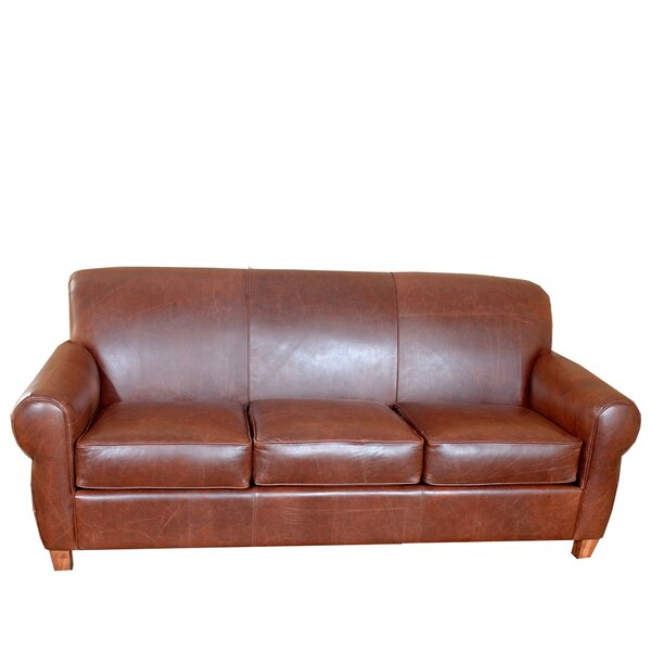 Perfect Priced Elijah Leather Sofa by 17 Stories by 17 Stories