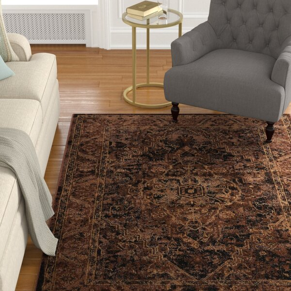 Ravens Espresso Area Rug by Charlton Home