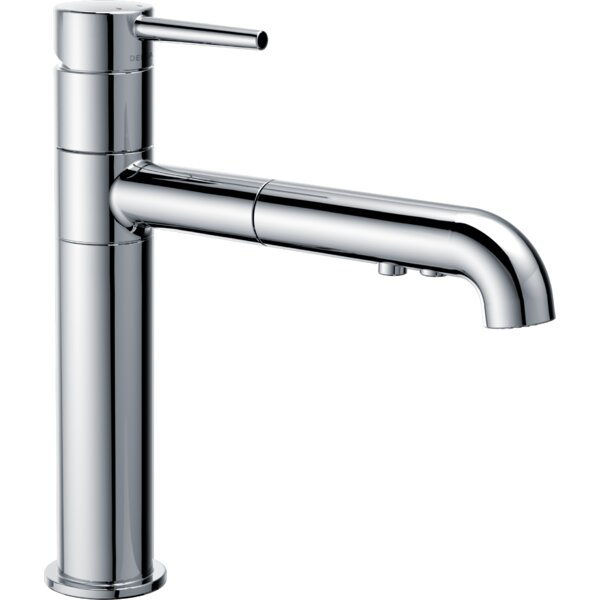 Trinsic® Standard Pull Out Single Handle Kitchen Faucet with Diamond Seal Technology by Delta