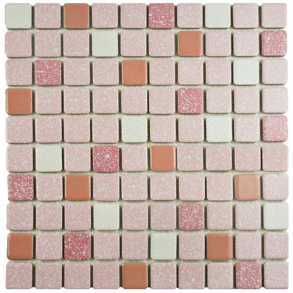 Minerva 1.1 x 1.1 Porcelain Mosaic Tile in Pink by EliteTile