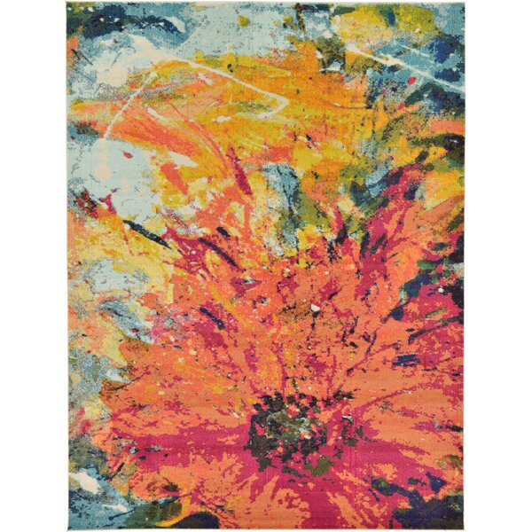 Roshan Orange Area Rug by Bungalow Rose