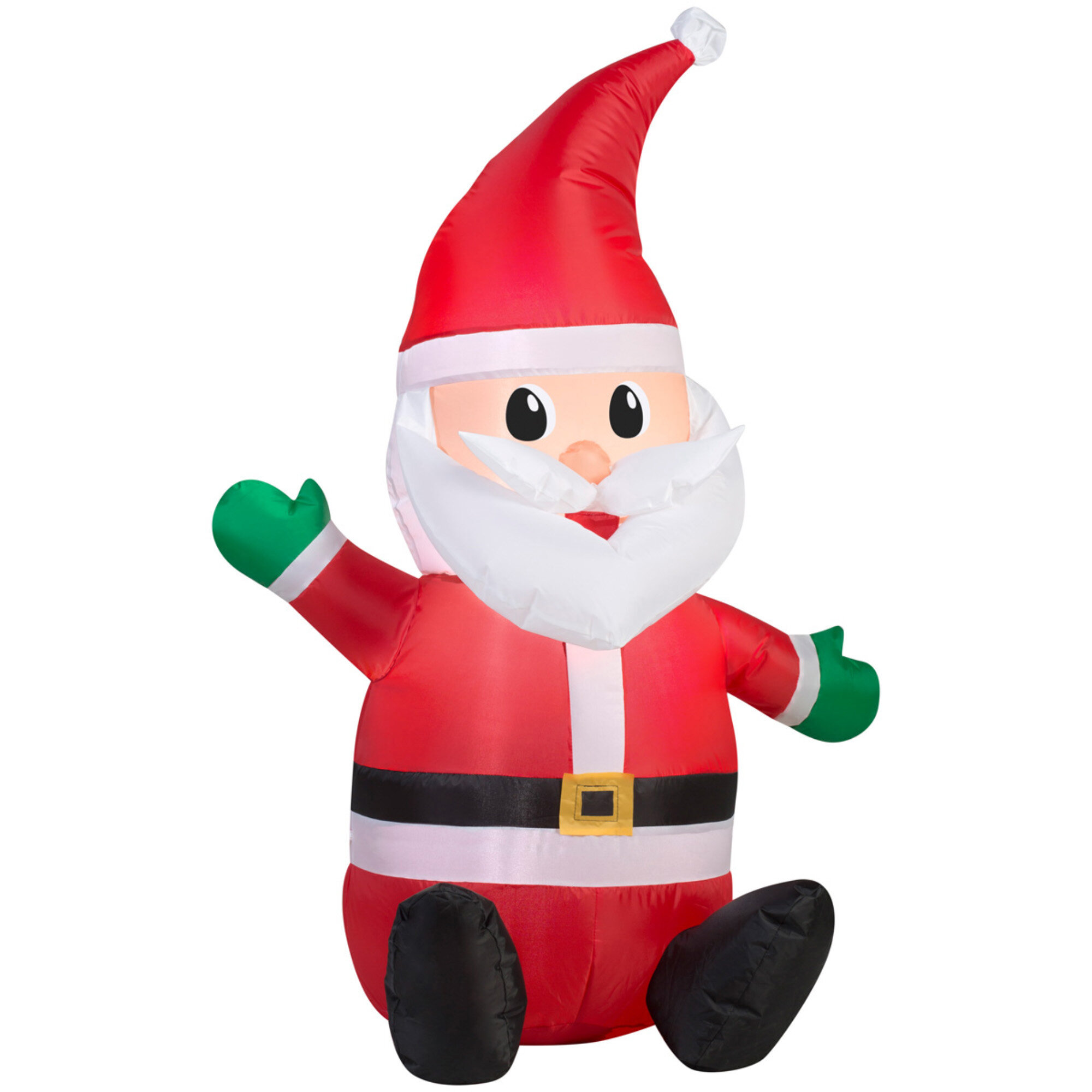 The Holiday Aisle Airblown Seated Santa with Hat Inflatable ...