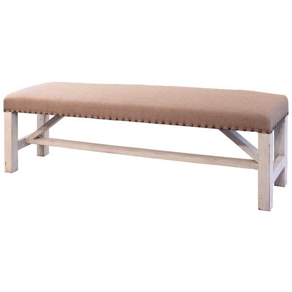 Lefferts Bedroom Wood Bench by Ophelia & Co.