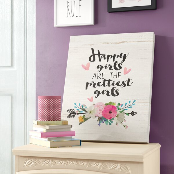 Southington Happy Girls Prettiest Canvas Art by Harriet Bee