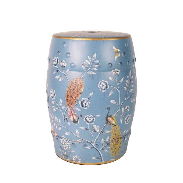 Zaytoune Ceramic Garden Stool by Bloomsbury Market