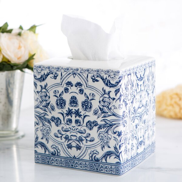 Porcelain Tissue Box Cover by Birch Lane™