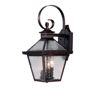 Reviews Britton 3-Light Outdoor Wall Lantern By Darby Home Co