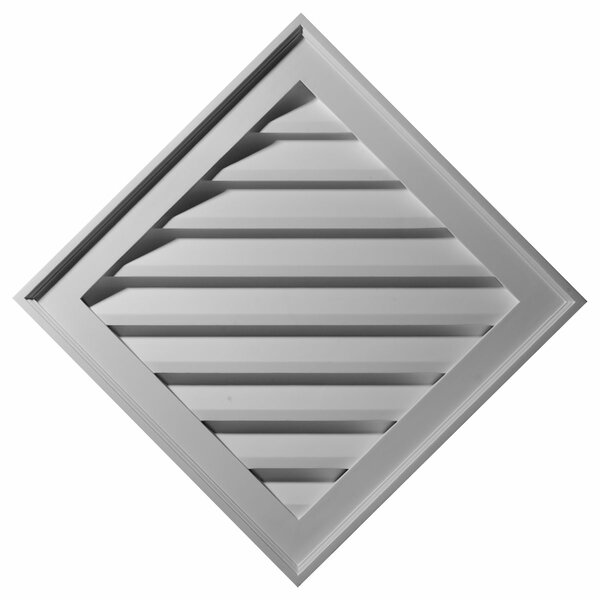 34H x 34W Diamond Gable Vent Louver by Ekena Millwork