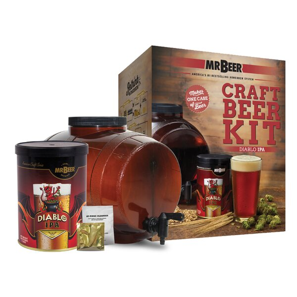 Mr. Beer Diablo IPA Craft Beer Making Kit by Mr. Beer