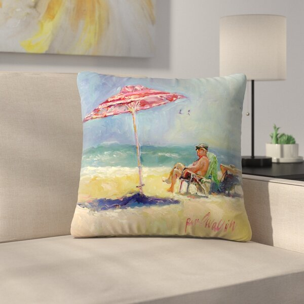 Maderabeach Throw Pillow by East Urban Home