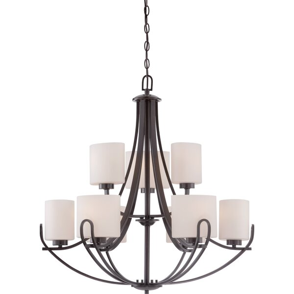 Keasler 9 - Light Shaded Tiered Chandelier By Charlton Home