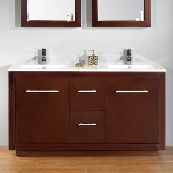 Cubix 60 Double Vanity Set by Ove Decors