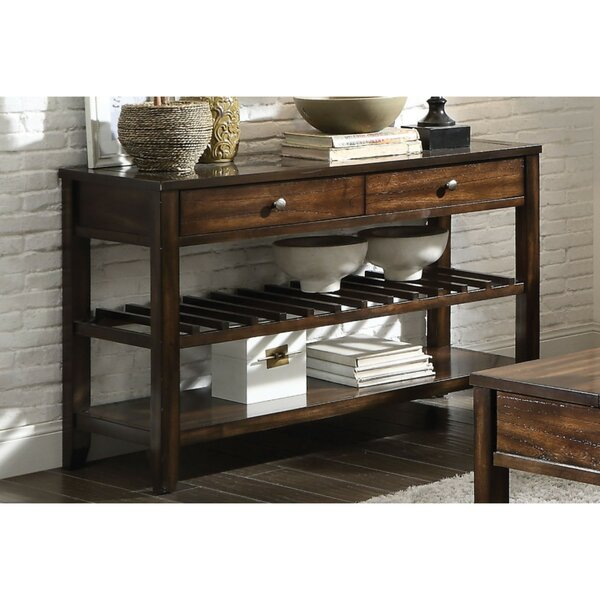 Karlee Top Marble Inlay Console Table By Millwood Pines