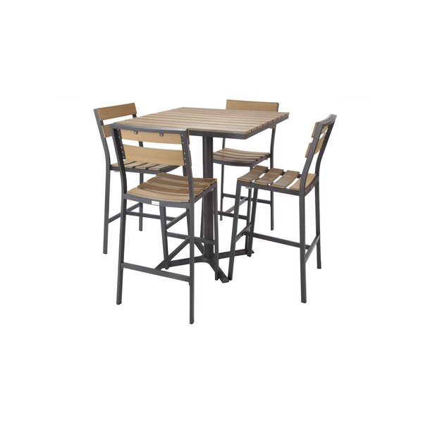 Asher 5 Piece Bar Height Dining Set by Madbury Road