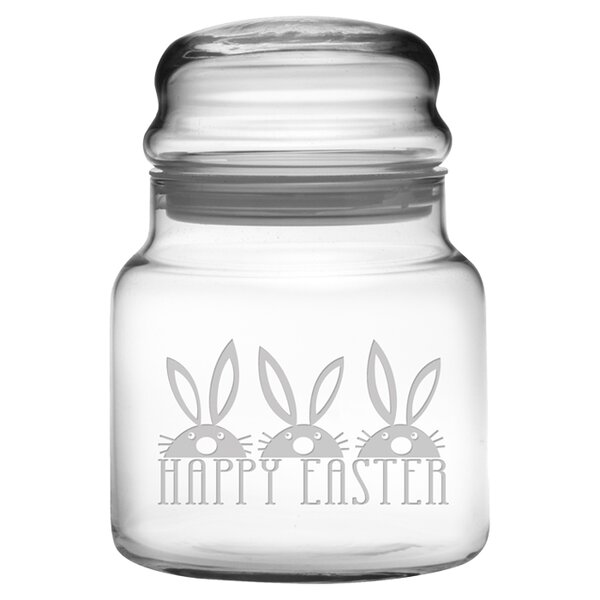 Easter Bunnies 0.69 qt. Apothecary Jar by Susquehanna Glass