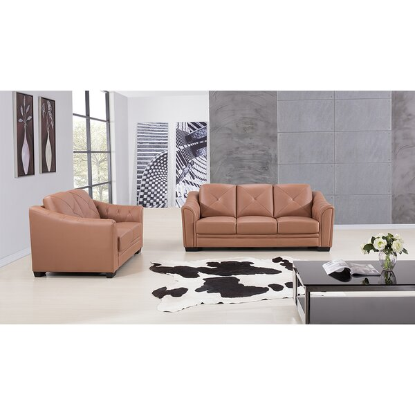 Vicknair 2 Piece Leather Living Room Set by Latitude Run