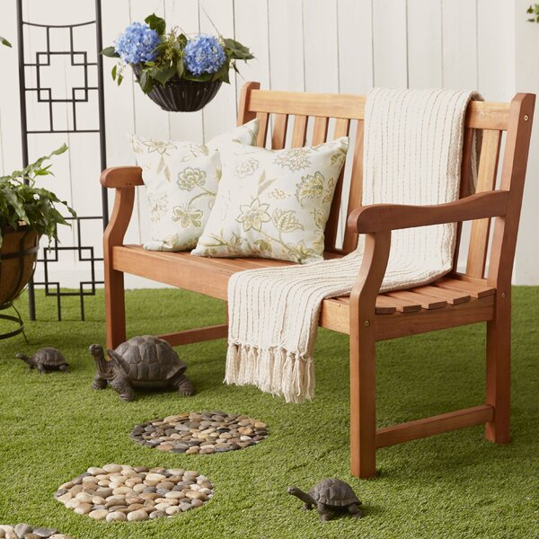 Stalder Wooden Garden Bench By Charlton Home by Charlton Home