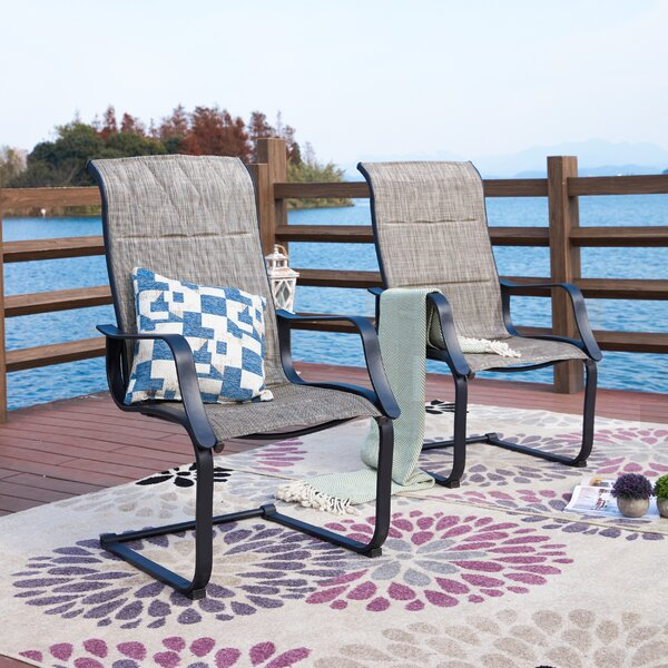 Higginsville Spring Patio Dining Chair (Set Of 2) By Red Barrel Studio
