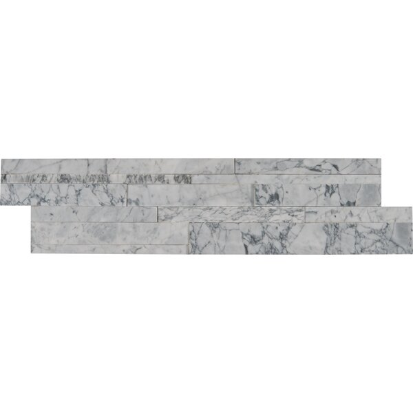 6 x 24 Marble Splitface in White/Gray by MSI