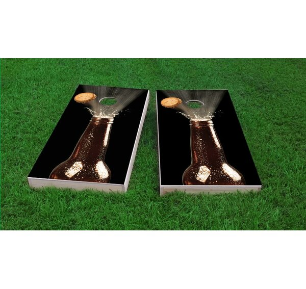 Beer Bottle Blowing Top Light Weight Cornhole Game Set by Custom Cornhole Boards