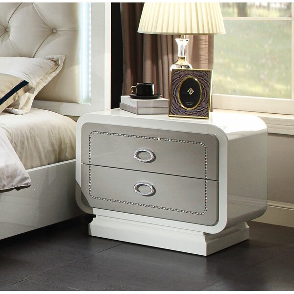 Guion 2 Drawer Nightstand by Everly Quinn
