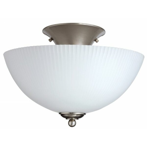 Elliptis Large 1-Light Semi Flush Mount by Lithonia Lighting