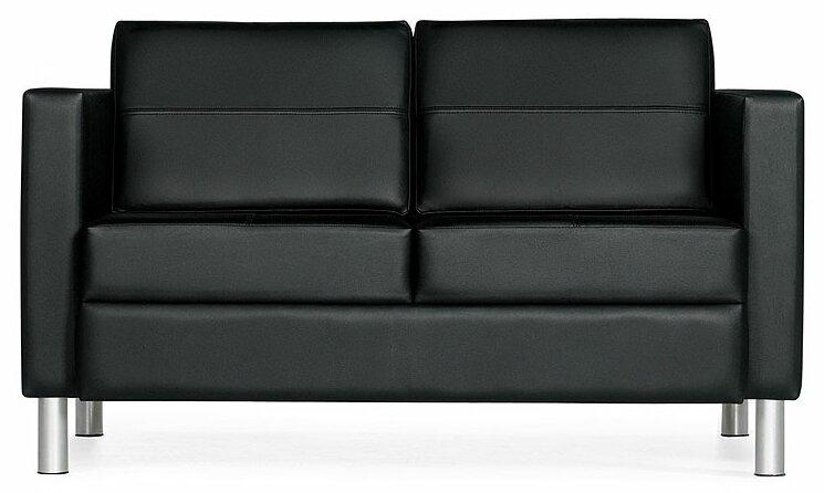 Global Total Office Citi Leather Loveseat | Wayfair
