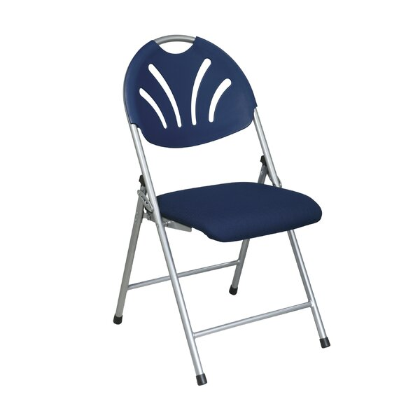 Work Smart Fan Back Folding Chair (Pack of 4) by Office Star Products
