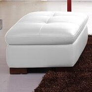 Review Lyndsey Leather Ottoman