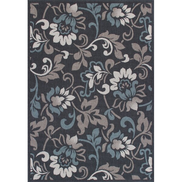 Eoin Weather-Proof Gray Indoor/Outdoor Area Rug by Winston Porter