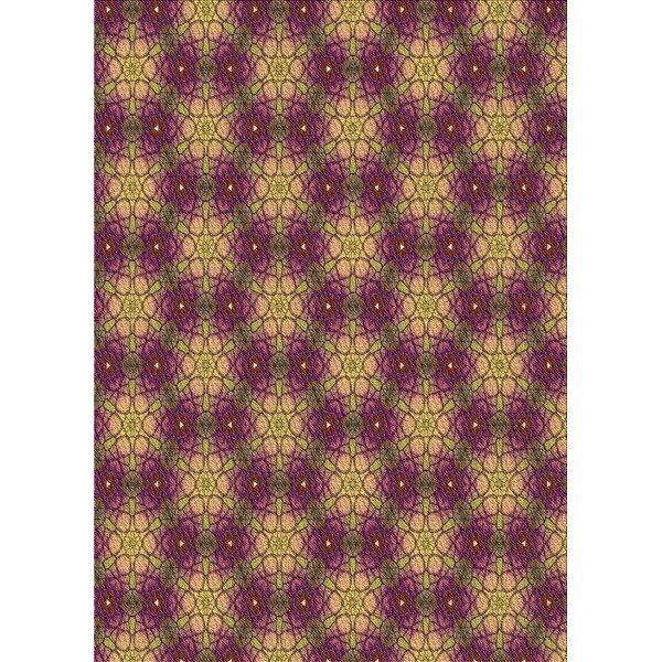 Hayrig Geometric Wool Brown/Pulple Area Rug