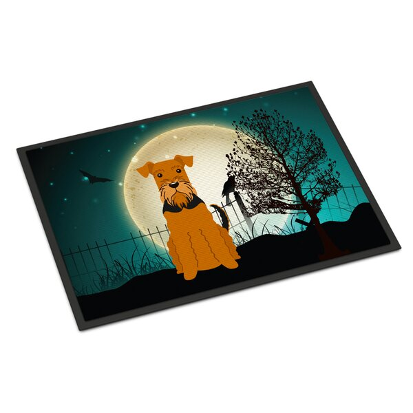 Halloween Scary Airedale Doormat by Caroline's Treasures