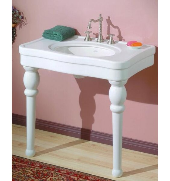 Astoria Ceramic 36 Console Bathroom Sink with Overflow by Cheviot Products