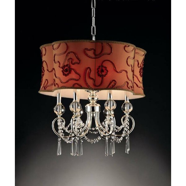 Fraire 6 - Light Shaded Drum Chandelier By Astoria Grand