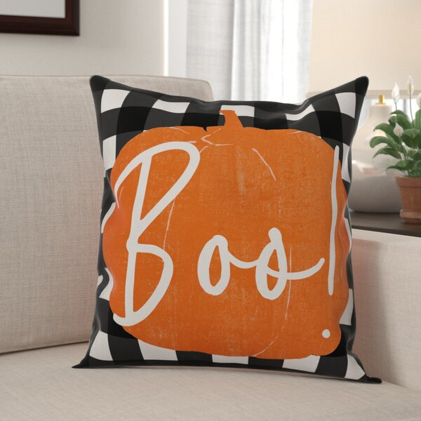 Maris Boo Buffalo Throw Pillow by The Holiday Aisle
