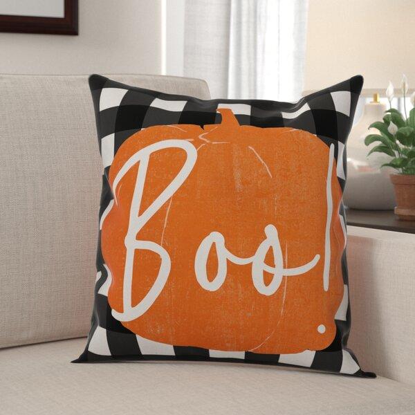 Maris Boo Buffalo Throw Pillow by The Holiday Aisle