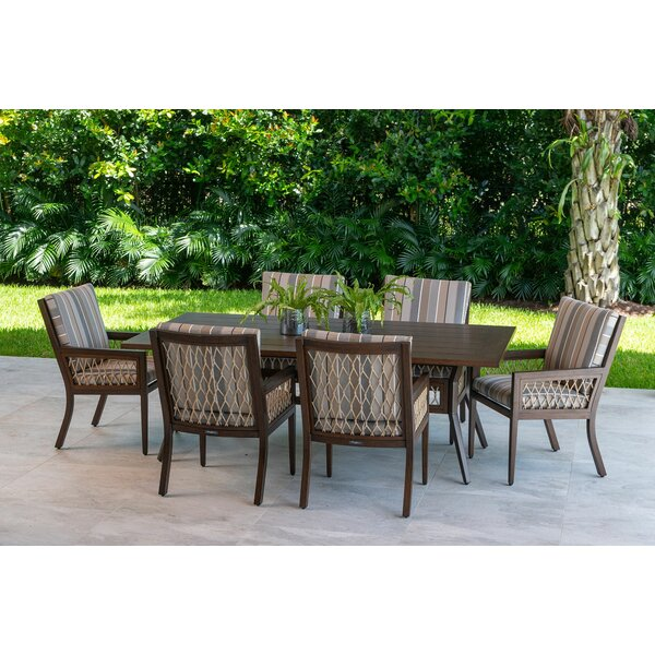 Echo Bay 7 Piece Dining Set With Sunbrella Cushions By Eddie Bauer