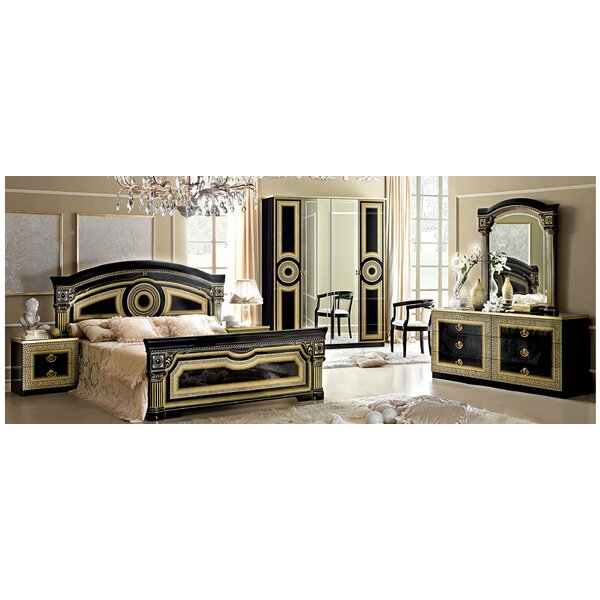 Queen Panel 3 Piece Bedroom Set by Noci Design