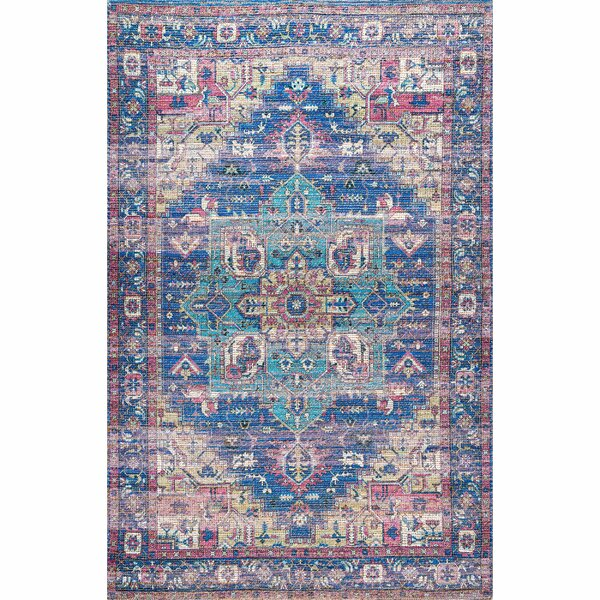 Keisha Blue Area Rug by Bungalow Rose