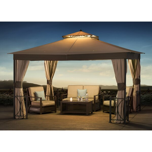 Belcourt 12 Ft. W x 10 Ft. D Steel Patio Gazebo by Sunjoy